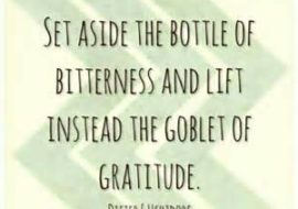 Stand still in gratitude, and keep your poise.