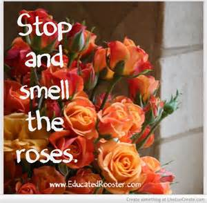 La dolce vita—stop and smell the roses!