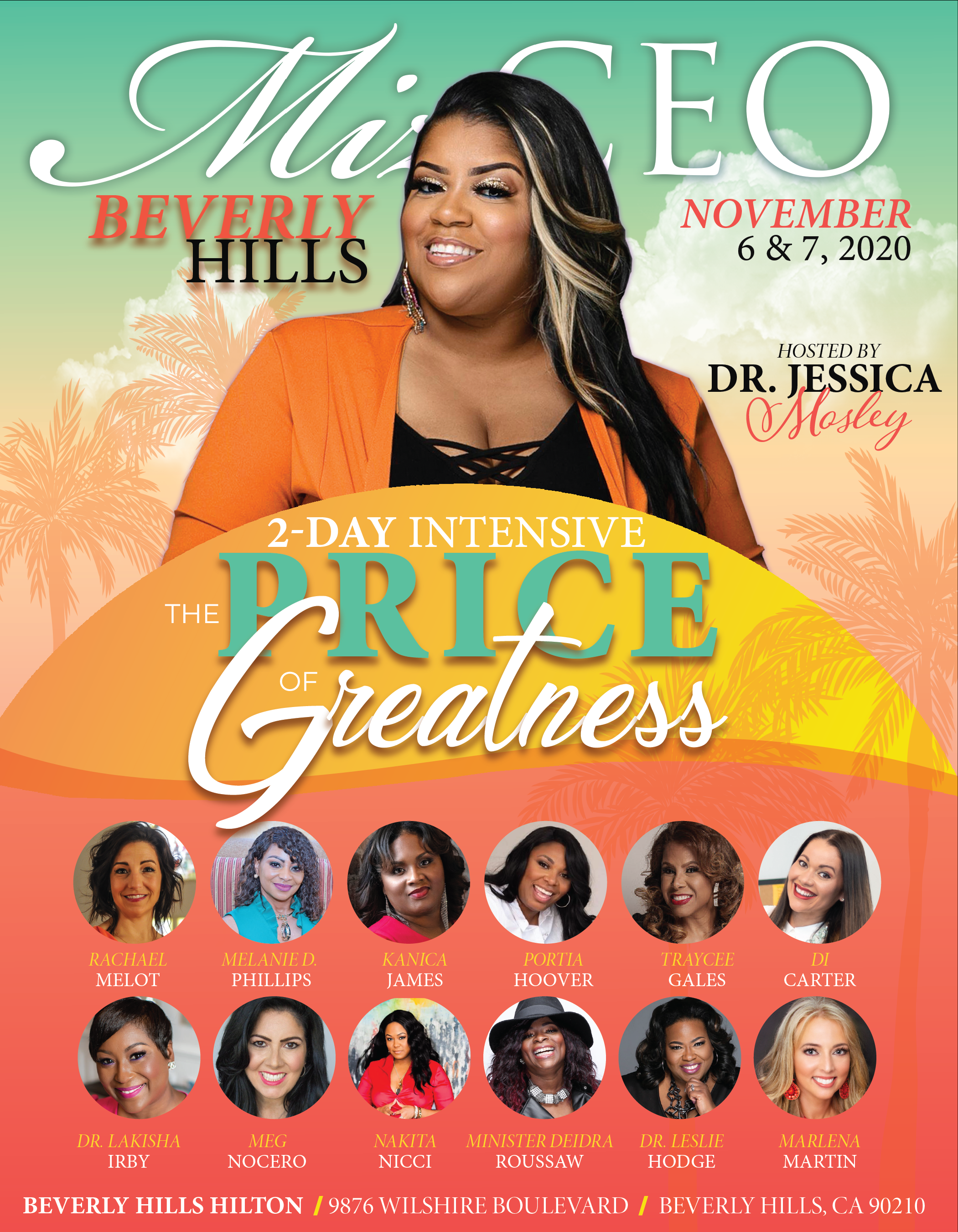 MIZ CEO THE PRICE OF GREATNESS 2-DAY INTENSIVE: November 6  & 7, 2020